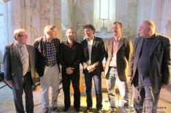 de gauche à droite : Jean-Claude Dumont, Jacques Krabal, Cyrille Simon, Bruno Rouillé, Nicolas Diédic, abbé Henri Gandon
